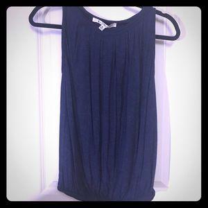 EUC navy blue Max Studio sleeveless top size S